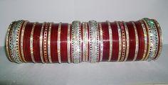 Glistening Maroon Indian Chura 2.4