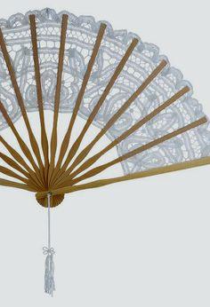 lace folding fans