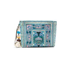 JADEtribe Eliz Pom Clutch ($220) ❤ liked on Polyvore featuring bags, handbags, clutches, leather hand bags, leather purses, genuine leather handbags, wristlet clutches and genuine leather purse