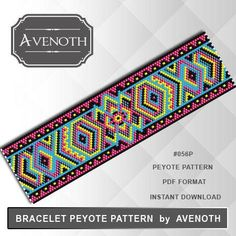 peyote bracelet pattern, bead pattern, beading, peyote stitch, jewelry pattern, peyote bracelet PLEASE NOTE: In purchasing this item, you are buying only a PATTERN in PDF format. This pattern is also intended for users that have experience with peyote, because the pattern does
