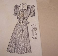 Vintage Lucy Style 1950s Dress  Contrast Collar or by PostcardGal