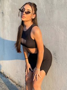 Color : Black Material : Milk Fiber Neckline : O Neck Pattern Type : Solid The post Sexy Hollow Out Two Piece Outfits appeared first on Power Day Sale. Fashion Group, All Fashion, Latest Fashion Trends, Plus Size Fashion, Womens Fashion, Fashion Styles, Classy Outfits, New Outfits, Summer Outfits