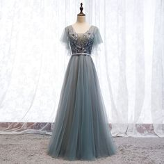 282253ed9e Eleganckie Szary Sukienki Wieczorowe 2019 Princessa V-Szyja Frezowanie  Cekiny Z Koronki Kwiat Szarfa Kótkie