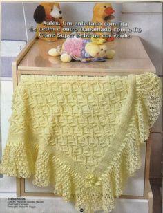 Tricotando para o Neném: Mantas em tricô e crochê