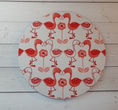 Flamingos  Mouse Pad mousepad / Mat  round or rectangle  by Laa766  chic / cute / preppy / computer, desk accessories / cubical, office, home decor / co-worker, student gift / patterned design / match with coasters, wrist rests / computers and peripherals / feminine touches for the office / desk decor