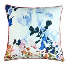 A1 Home Collections Hand Painted Floral Geometric Decorative Pillow - A1EP001