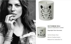 Chiara Mastroianni for Quintessence Paris  2014 Calendar Collection  Bengal Light (AROMATIC HERB BOISE CAMPHRE) 140g Candle http://french-studio-imports.myshopify.com/ #FSI