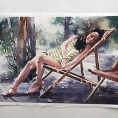 Segunda-feira, #aquarela #watercolor #autumn🍁