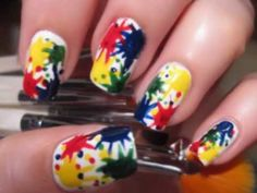 paint splatter nail polish