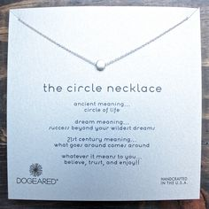 dogeared reminder 'dainty minimalist circle necklace', sterling silver - shophearts