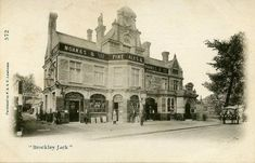 Brockley Jack, Lewisham in the early Formerly the Castle, Brockley Lane, Lewisham in and rebuilt in Walked past this pub every day in the on the way to school. Victorian London, Vintage London, Old London, Victorian Era, London Pubs, London Places, London History, Local History, Old Pictures