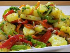 Sıcak Patates Salatası Nasıl Yapılır / Lezzetli Garnitür Tarifi / Ustadan Al Tarifi - YouTube