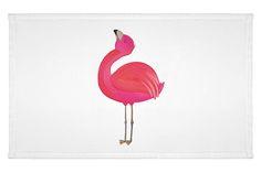 """Gäste Handtuch Flamingo stolz aus Kunstfaser  Natur - Das Original von Mr. & Mrs. Panda.  Das wunderschöne Gästehandtuch von Mr. & Mrs. Panda wird liebevoll von uns bedruckt und hat die Größe 30x50 cm.    Über unser Motiv Flamingo stolz  Flamingos sind das Sommermaskottchen schlechthin. Wenn wir die pinken Paradiesvögel sehen, denken wir sofort an Sommer, Sonne, Sonnenschein! Summer never ends...with Flamie, unserem Flamingo aus der """"Mr & Mrs Panda""""-Kollektion. Natürlich ist er, wie alle…"""