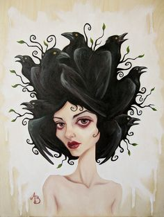 Art - Hair of Crows - Amy Botello