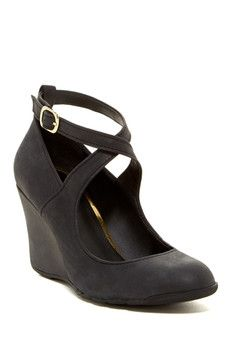 Kenneth Cole Reaction Tell Lilly More Leather Wedge Heel