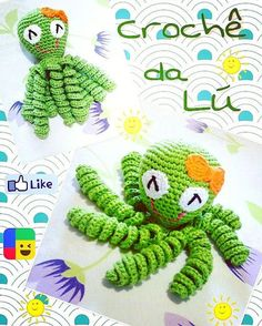Receita de polvo de crochê para bebês prematuros Filet Crochet, Crochet Animals, Lily, Dolls, Knitting, Handmade, Medusa, Diy And Crafts, Crochet Octopus