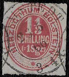+ 1865 Schleswig-Holstein German States #23 A10 1-1/3s Sotn-Barmstedt