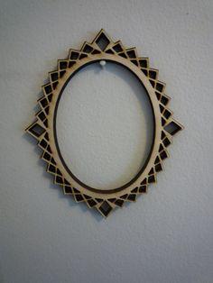 Decorative Oval Laser Cut Picture Frame