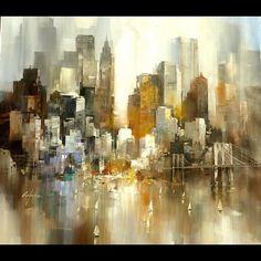 tableau peinture moderne new york