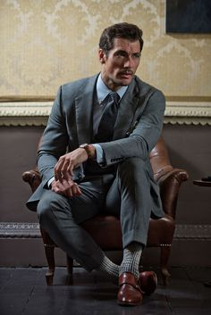 Introducing our exclusive David Gandy sock gift collections. Embrace the sartorial elegance of David. Shop the David Gandy Range now. David Gandy Suit, David Gandy Style, David James Gandy, Mode Masculine, Dapper Gentleman, Gentleman Style, Famous Male Models, Male Models Poses, Male Poses