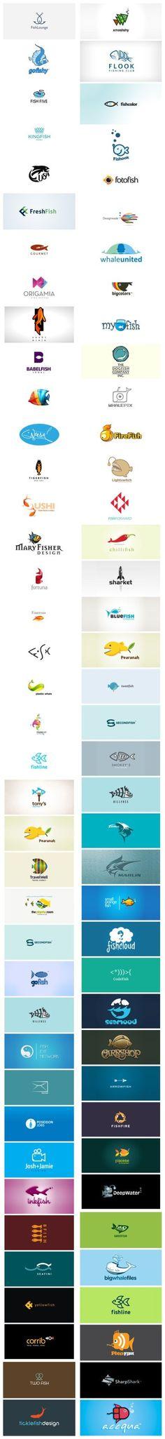 以鱼为元素的logo设计