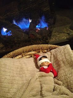 Elf on the Shelf idea: Tired Elf, needing his beauty sleep