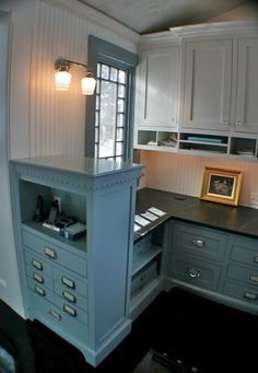 cool kitchen office with charging station