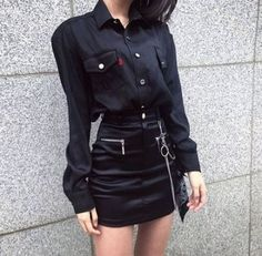21 Ideas For Style Outfits Grunge Casual Grunge Style Outfits, Black Outfit Grunge, Style Grunge, All Black Outfit, Hipster Outfits, Edgy Outfits, Outfits For Teens, Girl Outfits, Cute Outfits