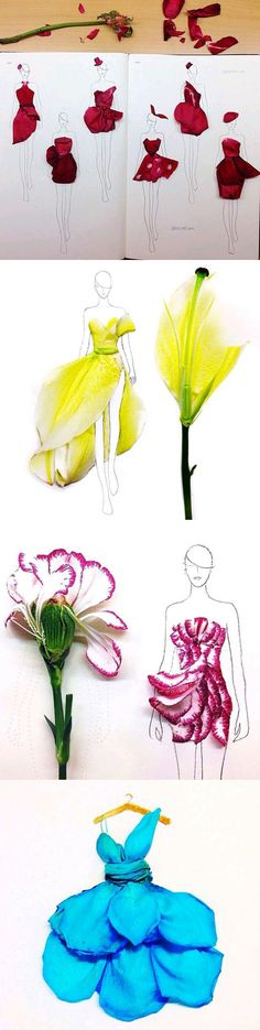 Funny pictures about Fashion Illustrations With Real Flower Petals As Clothing. Oh, and cool pics about Fashion Illustrations With Real Flower Petals As Clothing. Also, Fashion Illustrations With Real Flower Petals As Clothing photos. Illustration Blume, Illustration Mode, Illustration Flower, Flower Petals, Flower Art, Arte Fashion, Fashion Design, Collage Kunst, Moda Floral