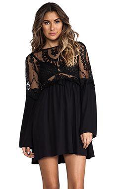 For Love & Lemons Isabella Dress in Black | REVOLVE