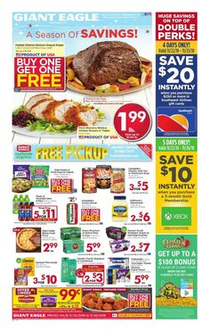 Browsing latest Giant Eagle Weekly ad Flyer February 27 - March and Find the huge discounts giant eagle weekly specials, Giant eagle ad this week. Giant Eagle, Round Roast, Weekly Specials, Fresh Market, Sale Flyer, Weekly Ads, Get One, November, Leaflets