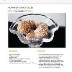 Coconut Cream Balls