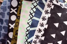 Hand Printed Quilt Squares