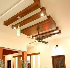 Wooden Bar False Ceiling Design to support ambient lighting yet contemporary ceiling design. Drawing Room Ceiling Design, Wooden Ceiling Design, Simple False Ceiling Design, Gypsum Ceiling Design, House Ceiling Design, Ceiling Design Living Room, False Ceiling Living Room, Wooden Ceilings, False Ceiling Ideas