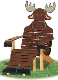 Moose Adirondack Chair Plans  Be the first in your neighborhood to lounge in our unique adirondack style chair that looks like a moose! #diy #woodcraftpatterns