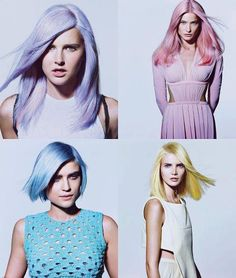 Pastel Hair, I'm trying really hard not to bleach my hair but these colors are so cute