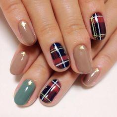 Tartan  #nail #nails #nailart