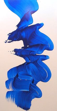 Non-objective painting by James Nares - a British artist living and working in New York. Most of his artworks constitute a long brushstroke of a solid color, on an oversized stretcher. Via Ruffles & Sequins James Nares, Inspiration Art, Art Inspo, Art Abstrait, Blue Aesthetic, Oeuvre D'art, Electric Blue, My Favorite Color, Shades Of Blue