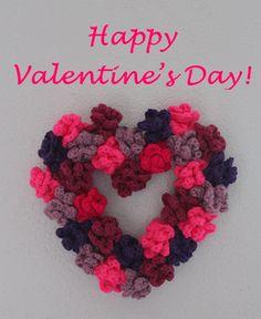 DIY: Valentinstags-Herz aus gehäkelten Rosen