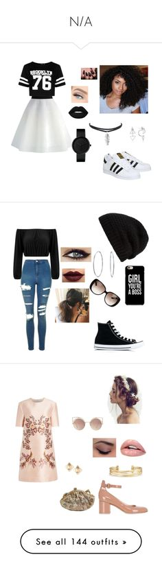 """""""N/A"""" by terra-wendy on Polyvore featuring Chicwish, Boohoo, adidas, Lime Crime, Topshop, Rick Owens, Gucci, Bling Jewelry, LASplash and Converse"""