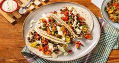 Black Bean Tacos and Tomato Pepper Salsa Recipe   HelloFresh Tomato Nutrition, Veggie Recipes, Mexican Food Recipes, Ethnic Recipes, Veggie Meals, Vegetarian Recipes, Mexican Seasoning, Black Bean Tacos