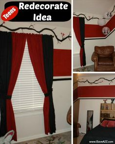 Room Redecorating Idea!  Love the clean classic look of red white and black any day!