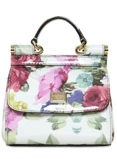 #Dolce & Gabbana Patent Micro Miss Sicily Top Handle in White
