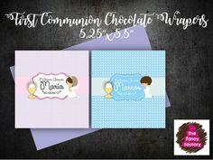 Mira este artículo en mi tienda de Etsy: https://www.etsy.com/es/listing/513866449/first-communion-chocolate-wrapers