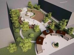 Public park and urban spaces Publicpark urbanspaces urbanlandscape is part of Landscape architecture - Villa Architecture, Landscape Architecture Model, Landscape Model, Landscape Design Plans, Landscape Concept, Urban Landscape, Landscape Lighting, Landscape Materials, Architecture Student