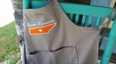 Unique Tennessee Apron by TheStitchingCabin on Etsy