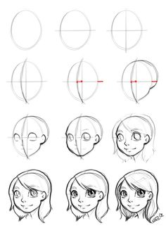 (cute style~) Drawing the face (how to) by Katie-O