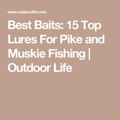 Best Baits: 15 Top Lures For Pike and Muskie Fishing | Outdoor Life