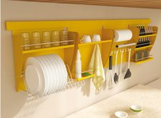Dish rack/storage over the sink