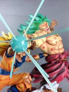 Dragonball Kai Goku 3 VS Broly 3 Battle Scene Resin Statue Diorama NEW IN STOCK